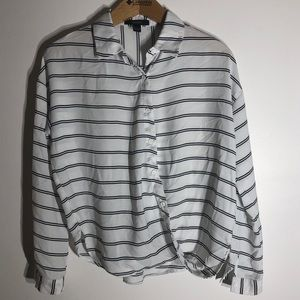 Forever 21 Striped Button Up Shirt